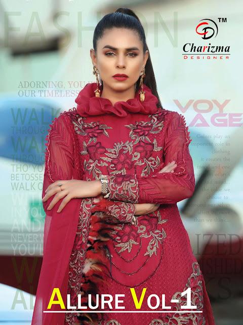 Charizma Allure vol 1 Georgette pakistani Suits
