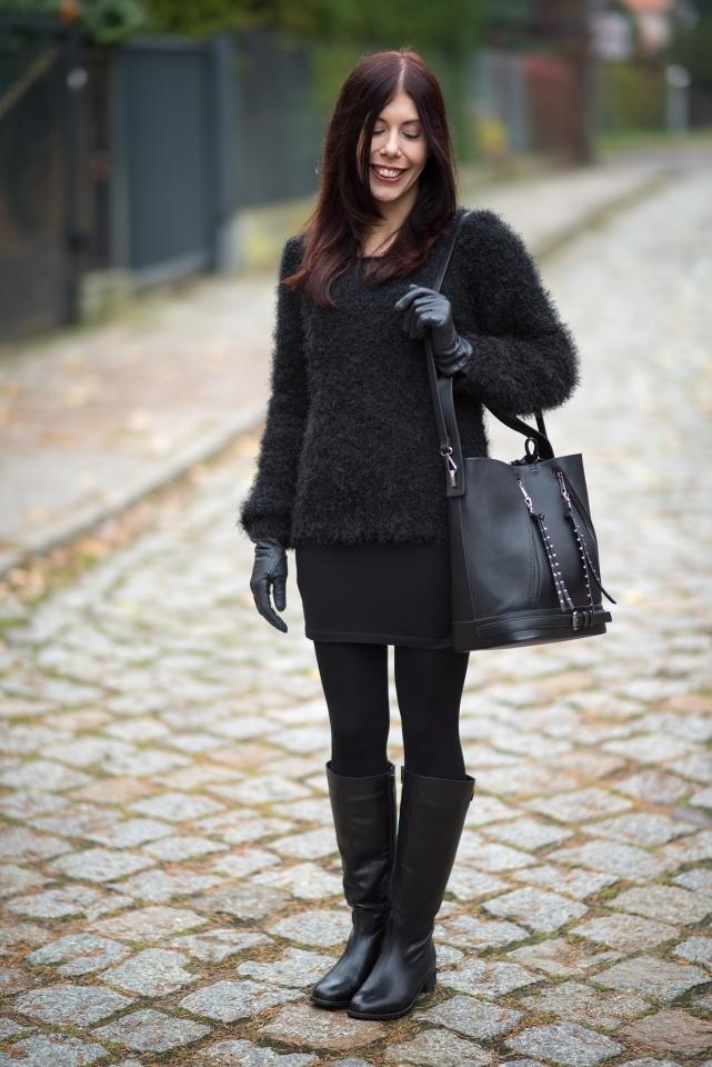 futrzany sweter blog modowy
