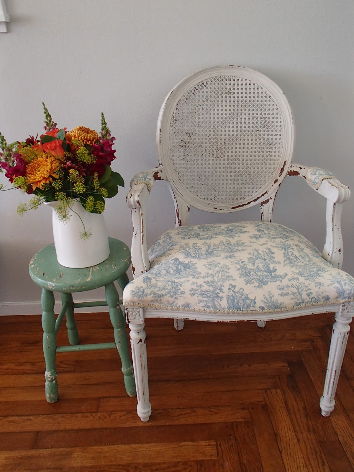 French Chairs D D 39s Cottage And Design Cane Backed Blue French Chair