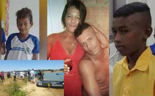 Família que morreram afogadas
