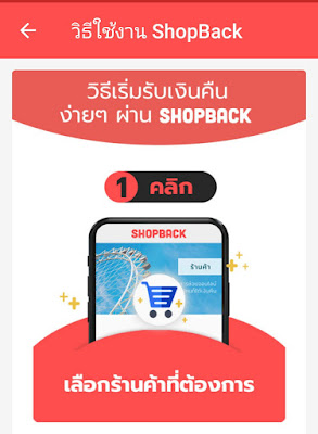 วิธีการช็อป ShopBack