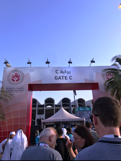 the entrance of the stadium. there are many entrances provided named as gates.