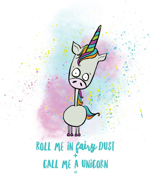 LostBumblebee ©2017 MDBN Roll me in fairy dust and call me a unicorn- Free printable - Donate to download, home decor, Personal use Only. Unicorn, birthday, cute
