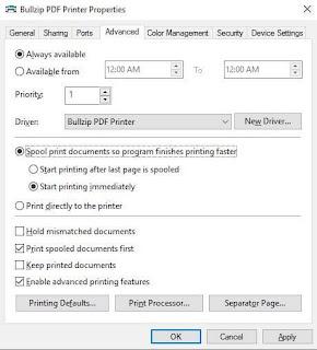 برنامج, طابعة, إفتراضية, لطباعة, ملفات, PDF, من, أى, مستند, ويندوز, BullZip ,PDF ,Printer