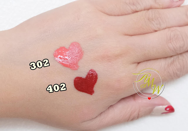 a swatch photo of Make Up For Ever Artist Rouge Ink Matte Liquid Color review by Nikki Tiu of askmewhats.com.