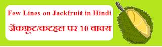 Few Lines on Jackfruit in Hindi