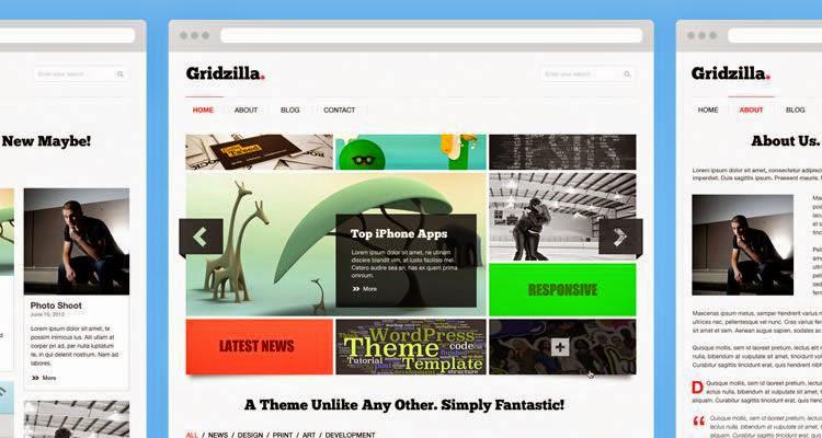 Gridzilla PSD Theme