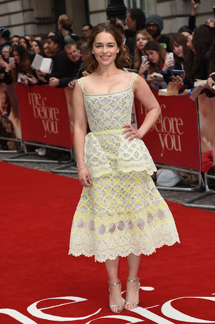Actress, @ Emilia Clarke - 'Me Before You' Premiere in London