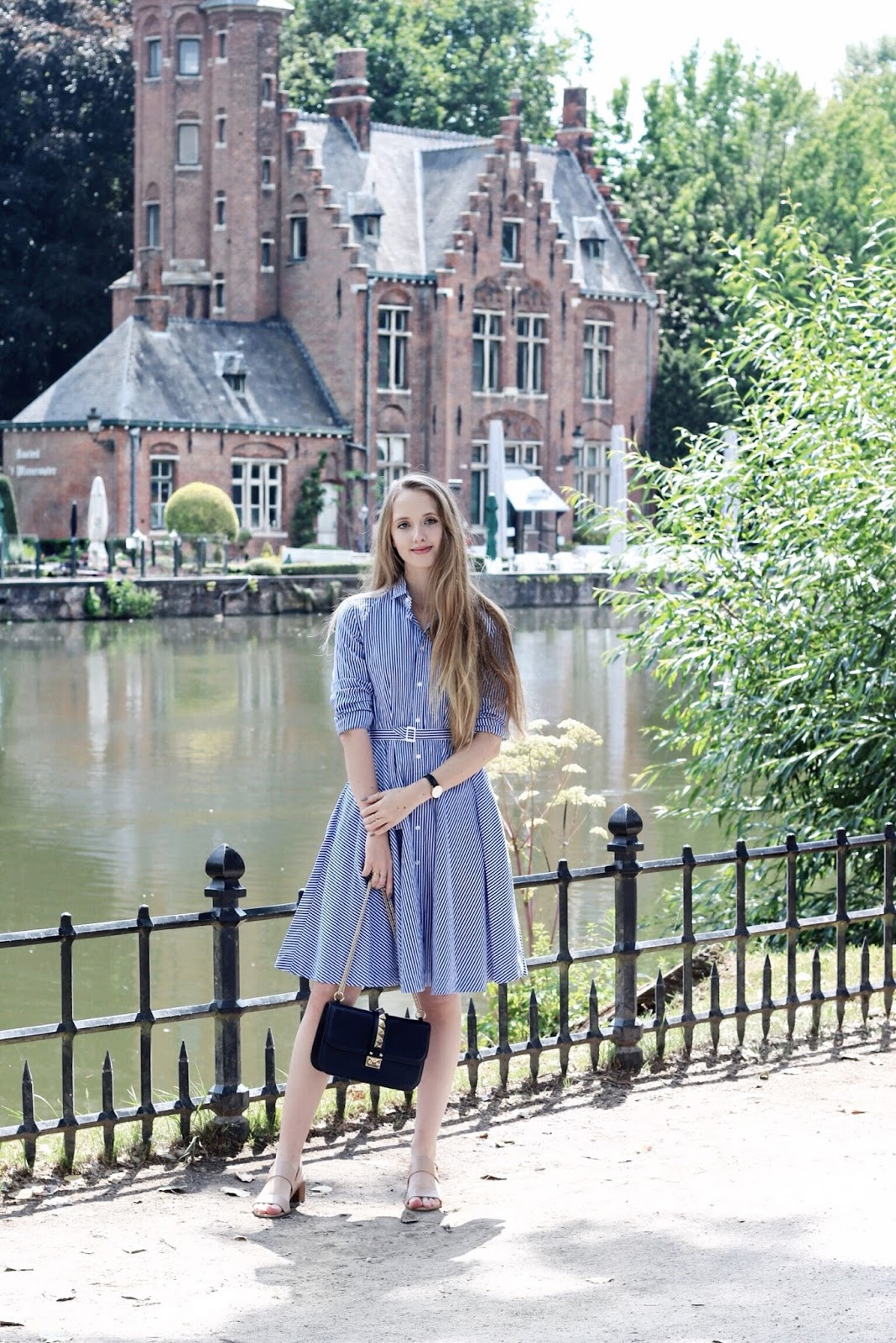 Ralph Lauren Blue Striped Shirt Dress