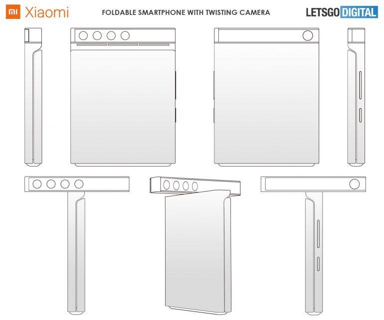 شركة Xiaomi تعمل على هاتف قابل للطي مع كاميرا دوارة