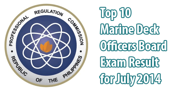 The List of Top 10 Marine Deck Officers Board Exam Passers for July 2014