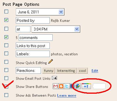 How To Add Google +1 Button To Blogger And WordPress