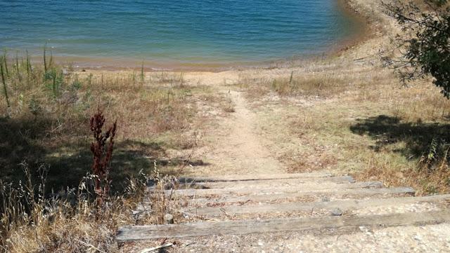 Acesso á praia Fluvial de Alqueidão