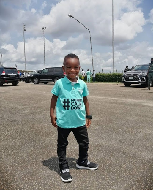 """Lagos State governor, Sanwo-Olu meets the boy in the """"mummy calm down"""" video"""