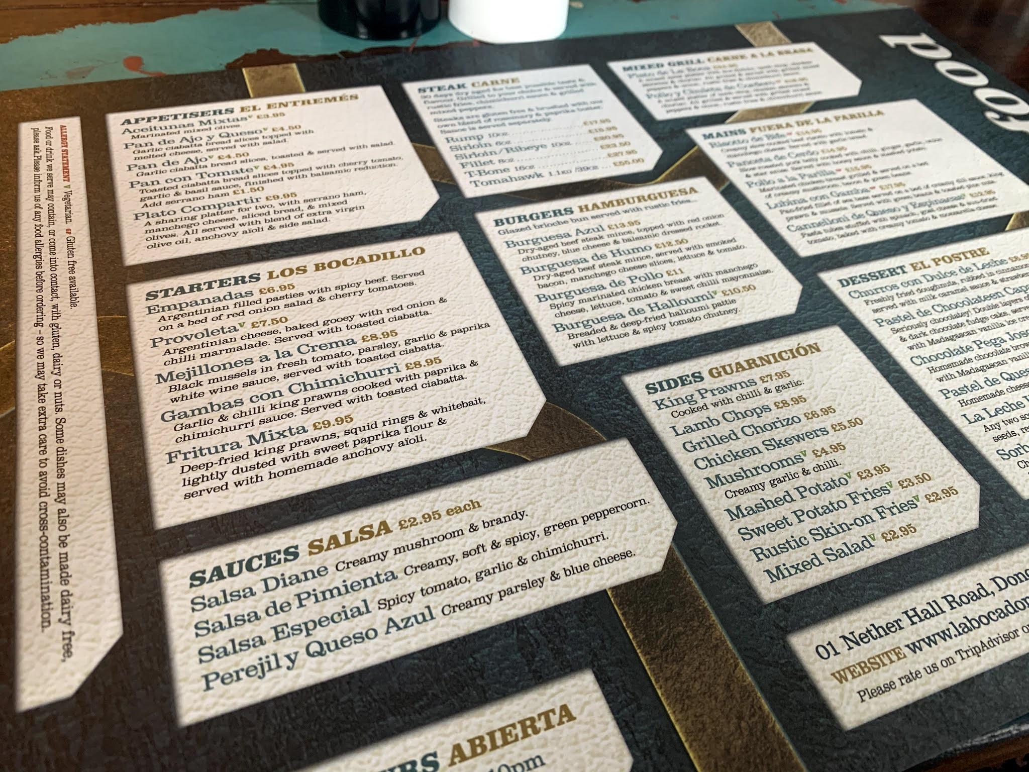 la-boca-doncaster-menu