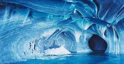 The Marble Cathedral, Region of Aysen, Patagonia, Chile.