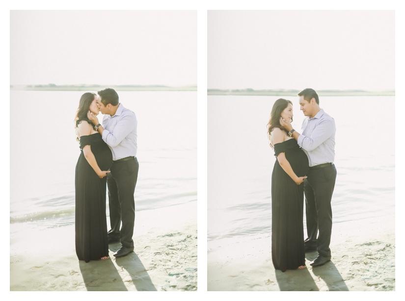 oregon maternity photography, beach couples shoot