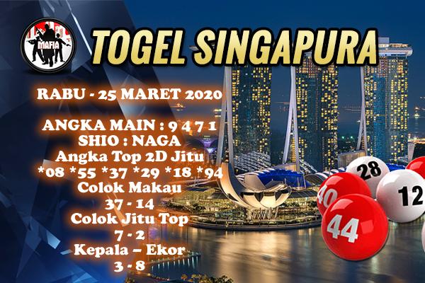 Bocoran Togel Singapura Rabu 25 Maret 2020 - Prediksi Mafia