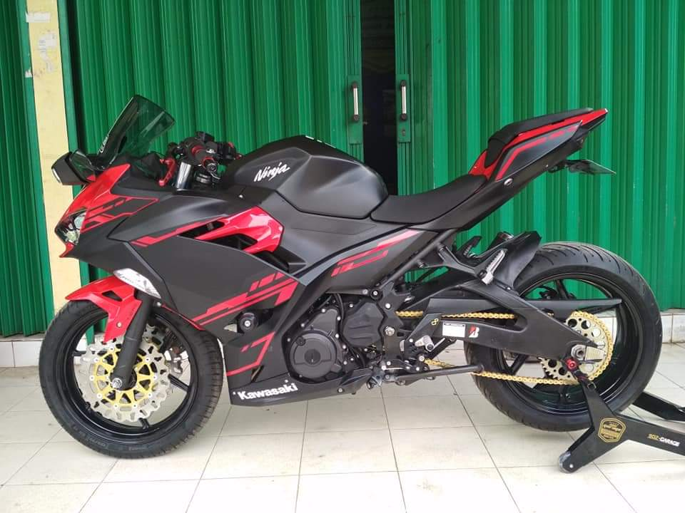 Modifikasi New Ninja 250 Fi Se Abs Upgrade Kaki Kaki Makin