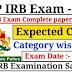 KSRP IRB Exam cut-off marks list
