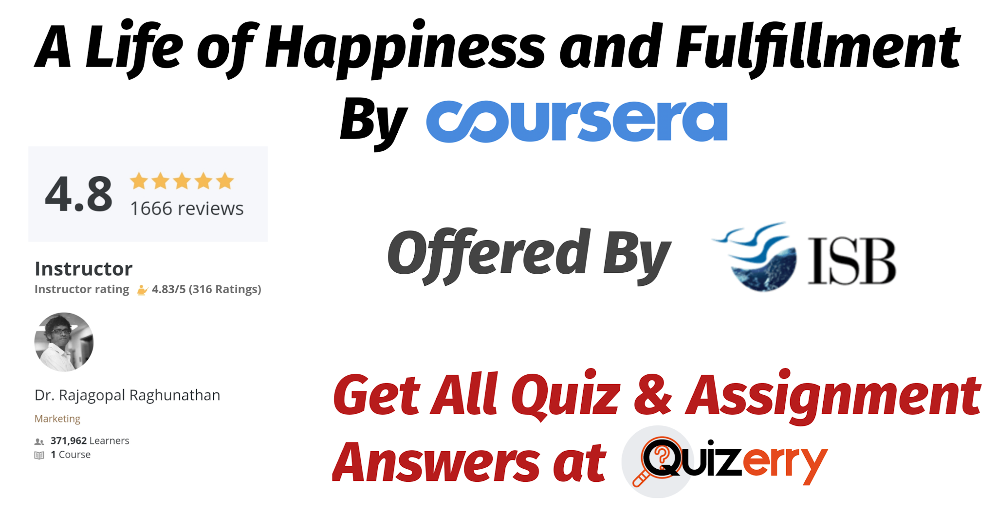 A Life of Happiness and Fulfillment- Coursera Quiz Answer ( Updated 2020)