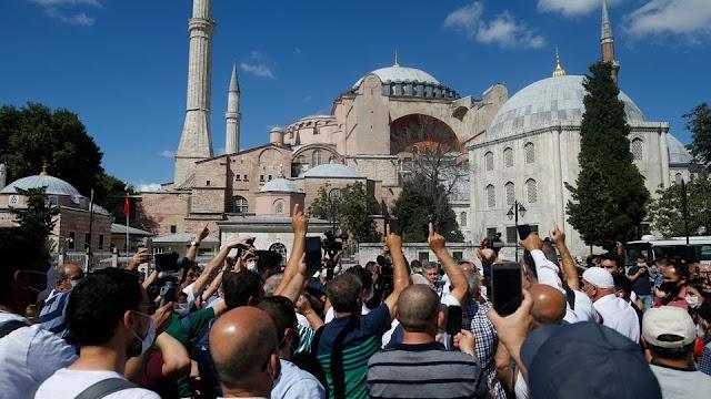 شاهد - بتعليمات من الرئيس رجب طيب أردوغان آيا صوفيا مفتوح 24 ساعة