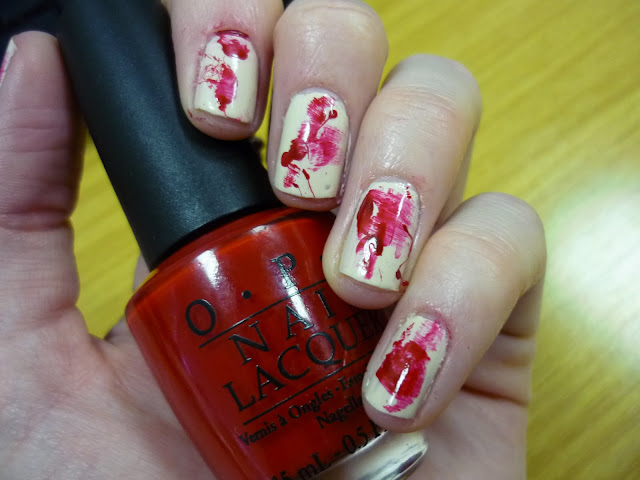 Halloween Blood Spatter Nail Art Tutorial