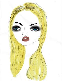 Bebee Pino blonde watercolor girl
