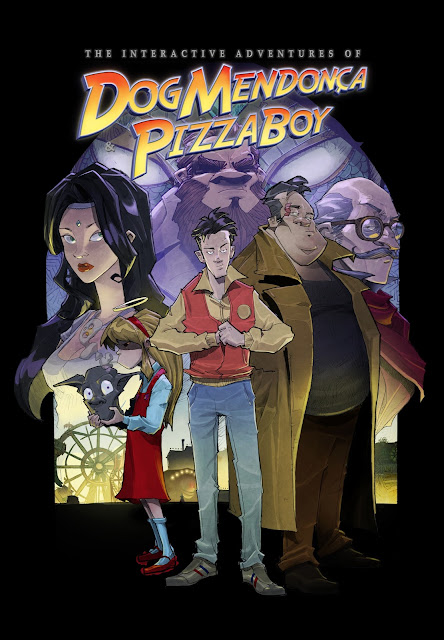 Cartel de la aventura The Interactive Adventures of Dog Mendonça & Pizzaboy
