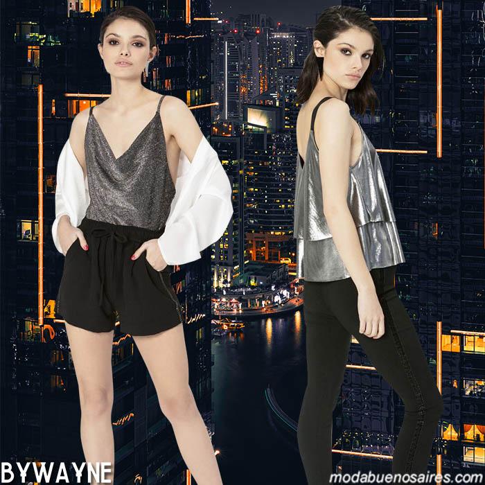 Tops y blusas plateadas primavera verano 2020 moda mujer.
