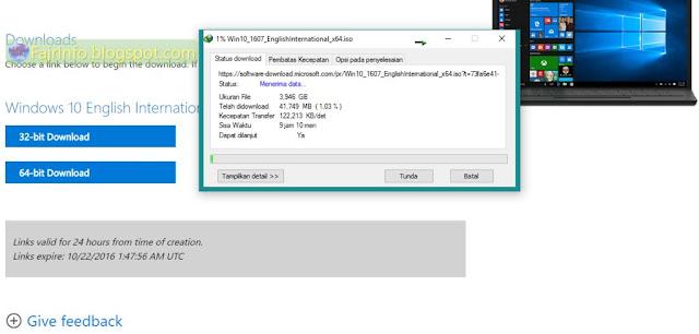 Cara Mendapatkan Windows 10 ISO Official (Resmi) Microsoft Terbaru