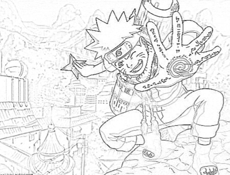 Naruto Shippuden Desenhos Para Colorir