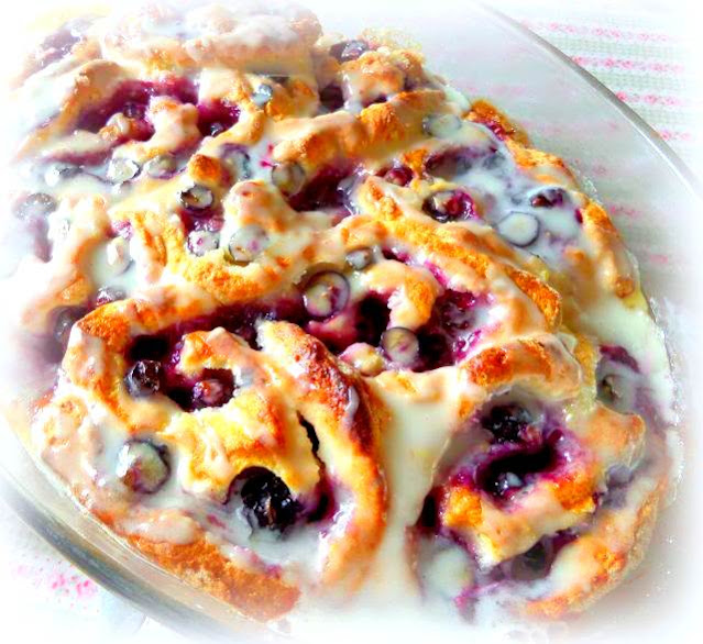 Lemon & Blueberry Sweet Rolls