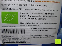 Bio: 100g Original Japanischer BIO Matcha Pulver aus Uji Japan - Für Grüntee-Latte, Coldbrew Matcha, Smoothies, Backen. 0,16/Portion