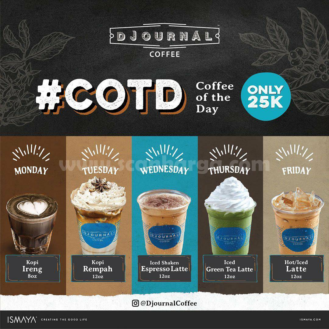 Promo Djournal Coffee COTD [Coffee of The Day] Only Rp 25.000