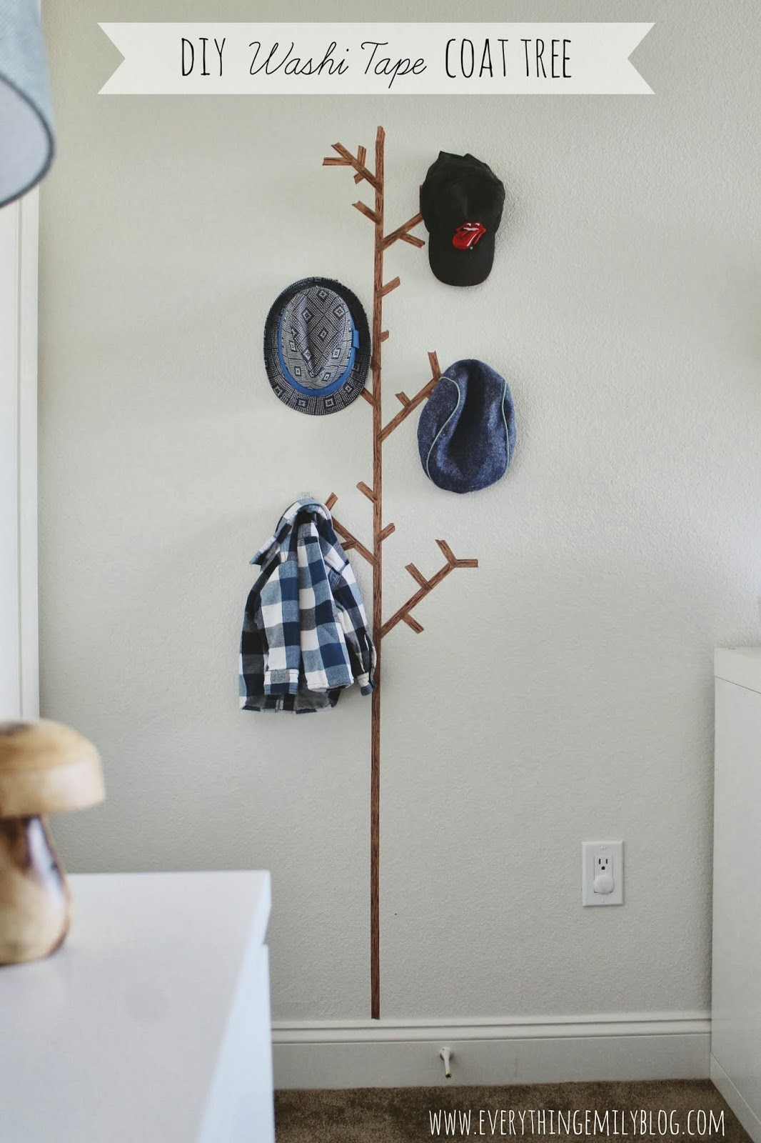 Ideas Para Decorar Con Washi Tape Diy Washi Tape Coat Tree Everything Emily