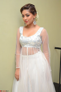 Anu Emmanuel in a Transparent White Choli Cream Ghagra Stunning Pics 064.JPG