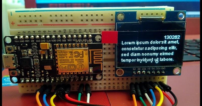Arduino-er: NodeMCU/ESP8266 + OLED 1.3