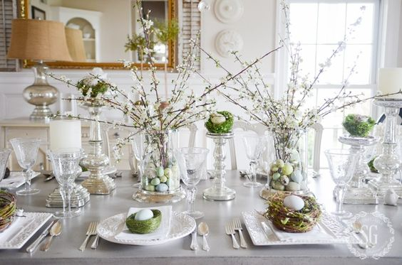 Gorgeous spring and easter tablescape by Stone Gable blog