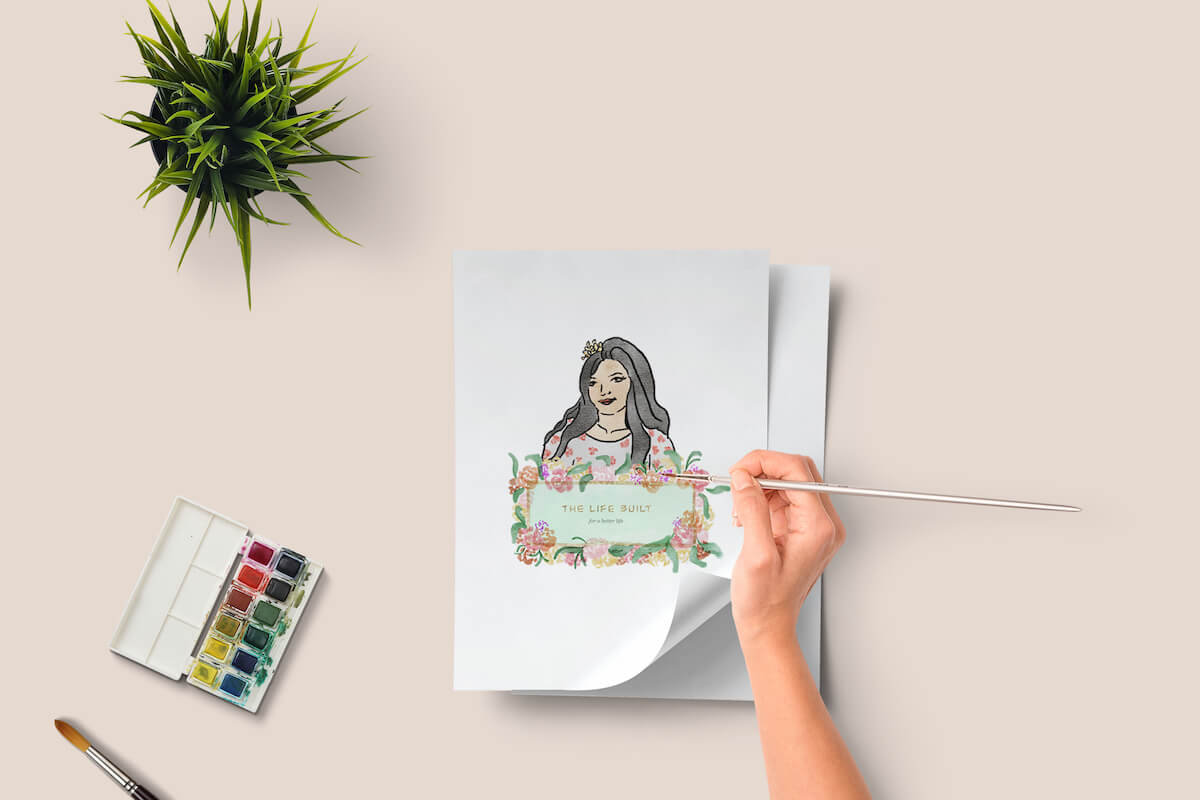 custom illustration for a lifestyle blogger