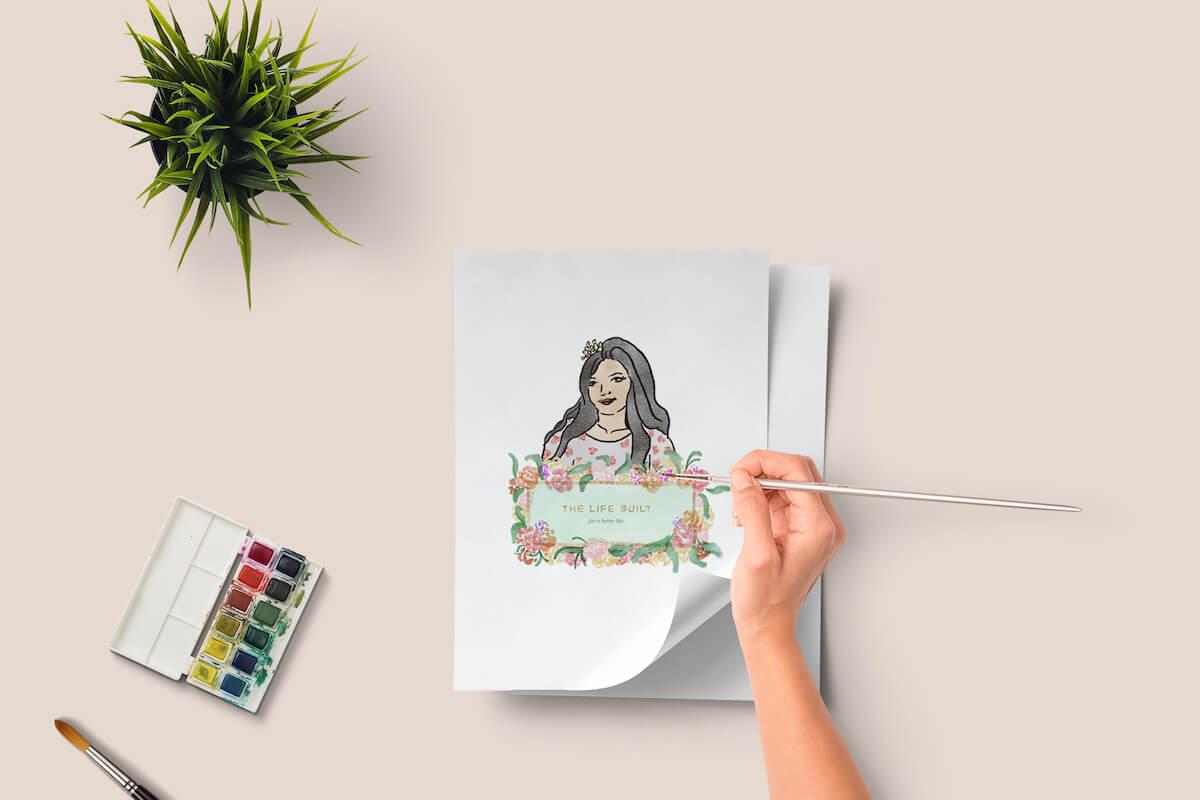 custom illustration for a lifestyle blogger