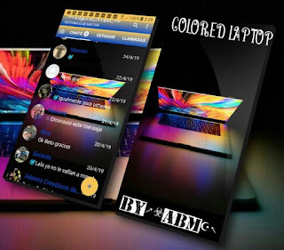 Colored Laptop Theme For YOWhatsApp & Fouad WhatsApp By ALBERTO