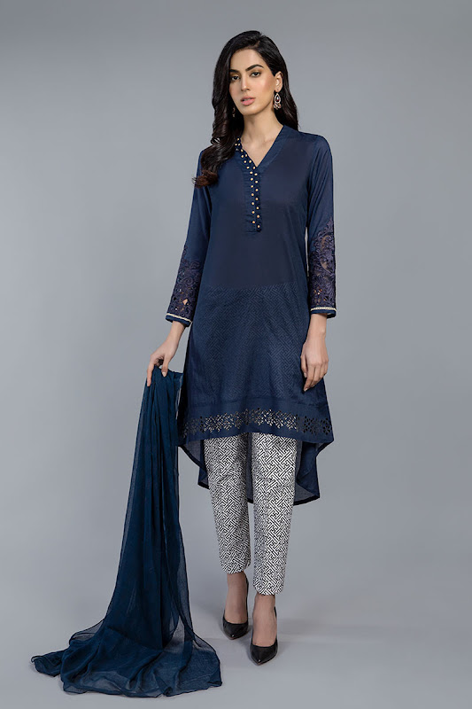 Maria B lawn Suit Blue color