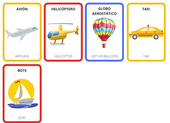 mode of transport in Spanish