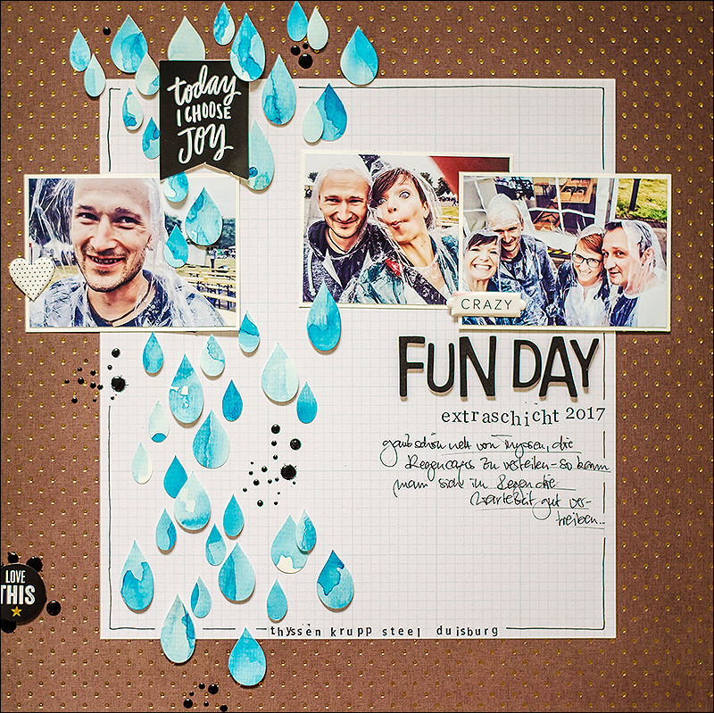 Stephanie Berger - Scrapbooking - Layout - Extraschicht