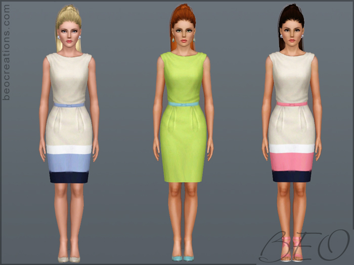 My Sims 3 Blog: City Girl Dress By BEO