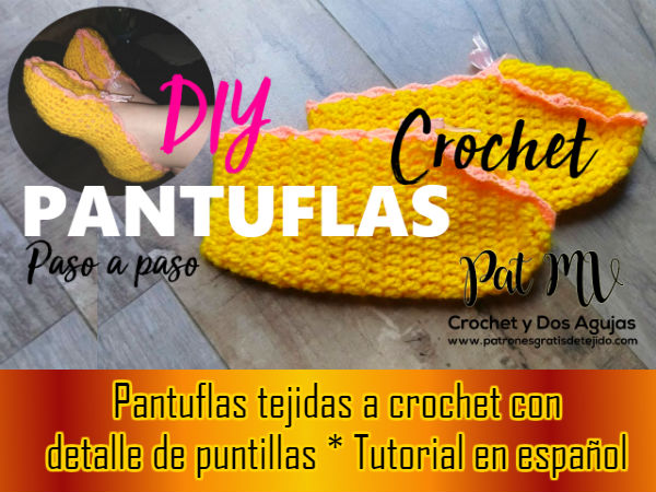como-tejer-slippers-crochet