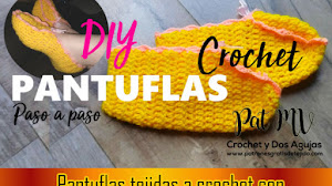 Pantuflas tejidas a crochet paso a paso / Video tutorial