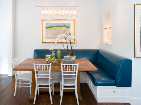 COCOCOZY: BREAKFAST NOOK LOOK - BUILT-IN BANQUETTE SEATING!
