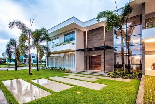 Construindo minha casa clean 30 fachadas de casas for Ver fachada de casas modernas